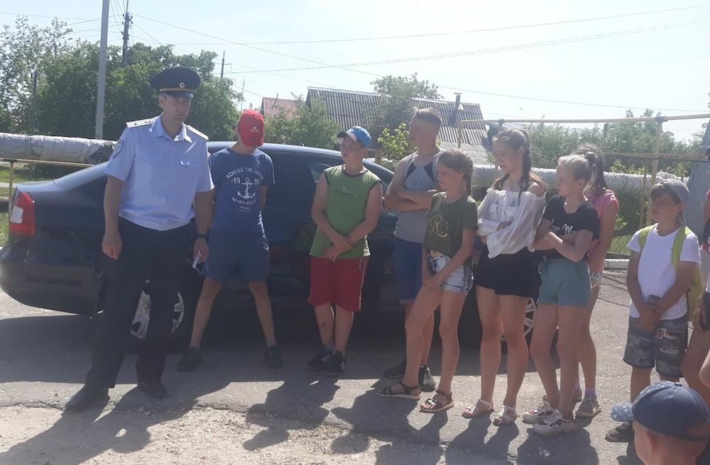 Ребята из школьного лагеря «Олимп»  познакомились со службой Госавтоинспекции