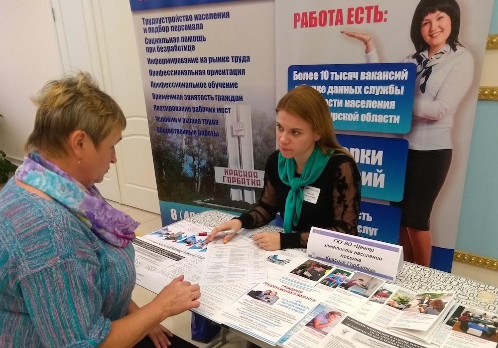 Участие Центра занятости населения поселка Красная Горбатка в районном мероприятии, посвященном дню пожилого человека